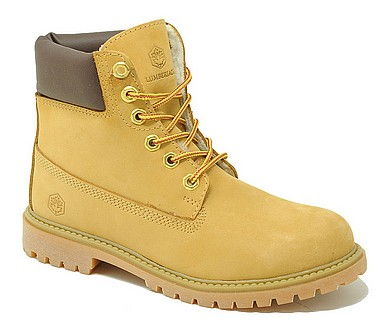 Lumberjack River Boot Fur Lining giallo marrone