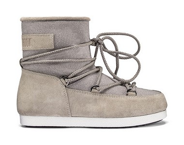 Moon Boot® Moonboot F Side Low Suede light grey