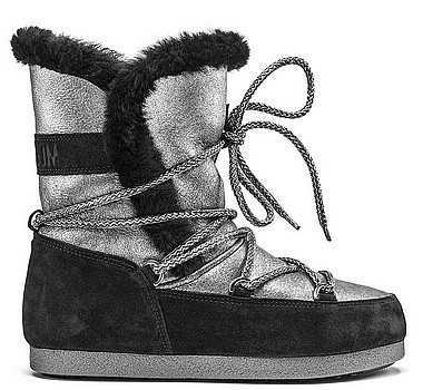 Moon Boot® Moonboot Far Side High Sh silber schwarz