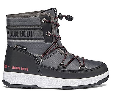 Moon Boot® Moonboot JR Boy Mid WP 2 schwarz castelrock