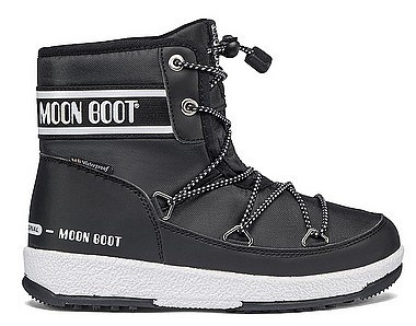 Moon Boot® Moonboot JR Boy Mid WP 2 schwarz