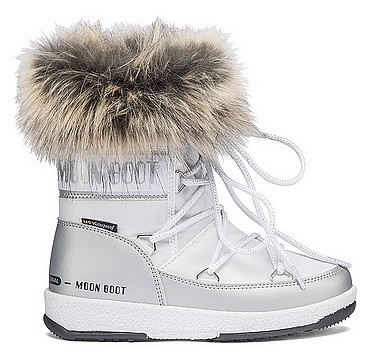 Moon Boot® Moonboot JR Girl Monaco L weiss silber