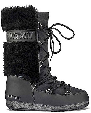 Moon Boot® Moonboot Monaco HI Fur WP nero