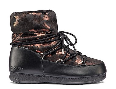 Moon Boot® Moonboot Low Camu WP nero bronzo