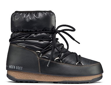 Moon Boot® Moonboot Low Nylon WP nero bronzo