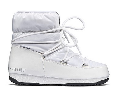 Moon Boot® Moonboot Low Nylon WP bianco argento