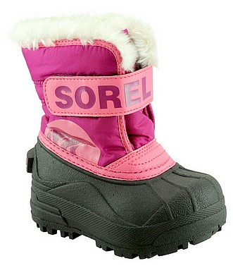 Sorel Toddlers Snow Commander tropic pink deep blush