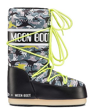 Tecnica® Moon Boot JR T Rex nero verde