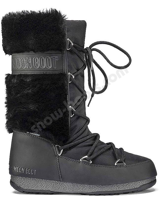 separation shoes ec48c ea788 Moon Boot Moonboot Monaco HI Fur WP - shop - snow-boots.com